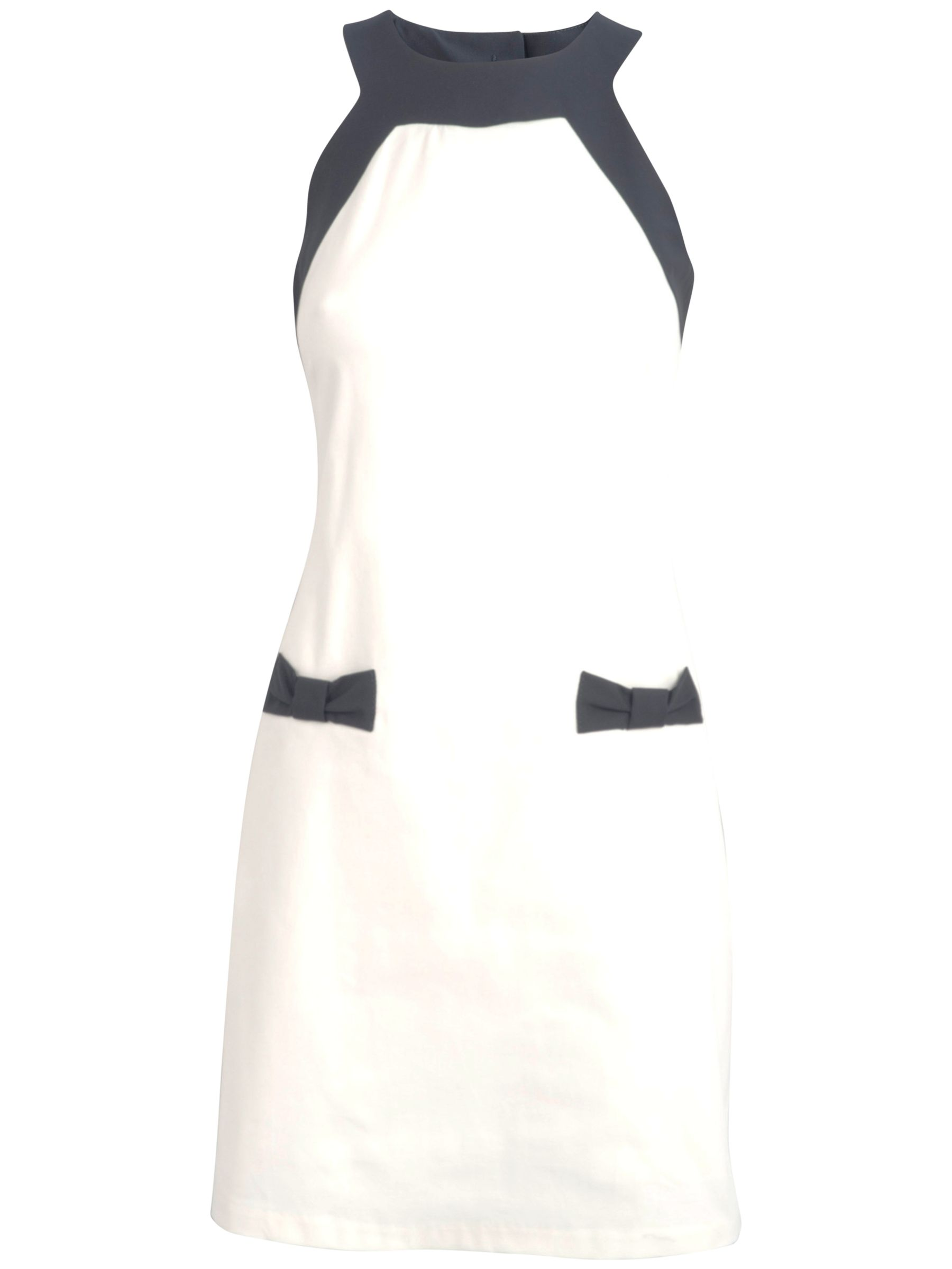 almari bow shift dress black / white, almari, bow, shift, dress, black, white, 8|10, women, womens dresses, special offers, womenswear offers, womens dresses offers, 707208
