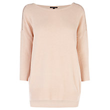 Buy Warehouse Zip Shoulder Jumper, Light Pink Online at johnlewis.com