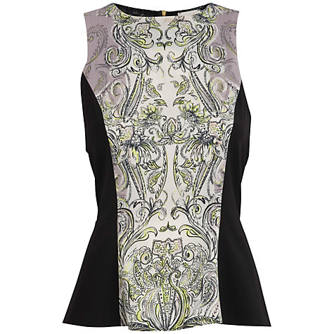 Buy Almari Paisley & Lace Top, Lilac / Black Online at johnlewis.com