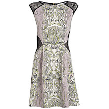 Buy Almari Lace & Paisley Dress, Lilac / Black Online at johnlewis.com