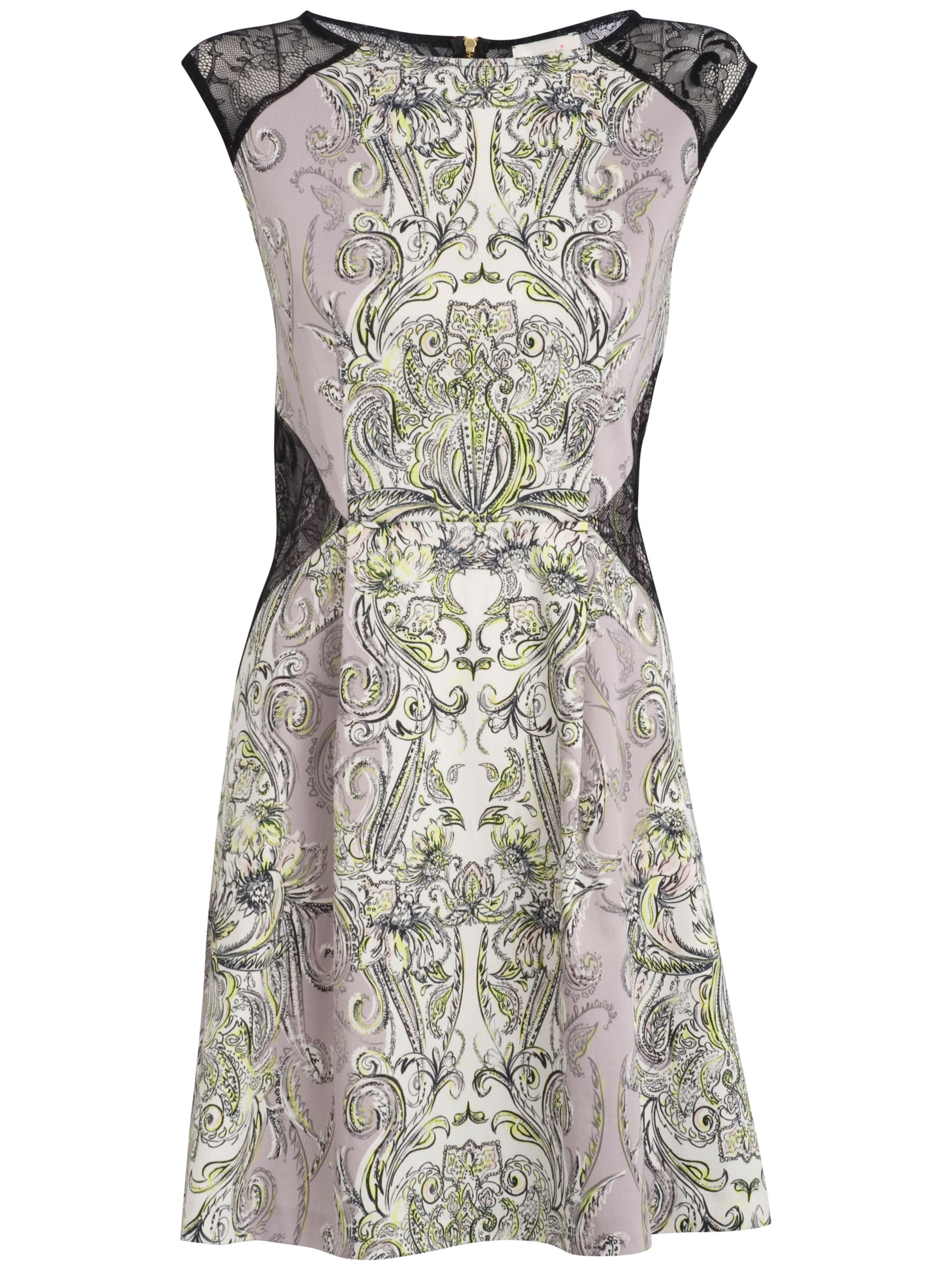 almari lace & paisley dress lilac / black, almari, lace, paisley, dress, lilac, black, 8 12 10 14, women, womens dresses, special offers, womenswear offers, womens dresses offers, 707220