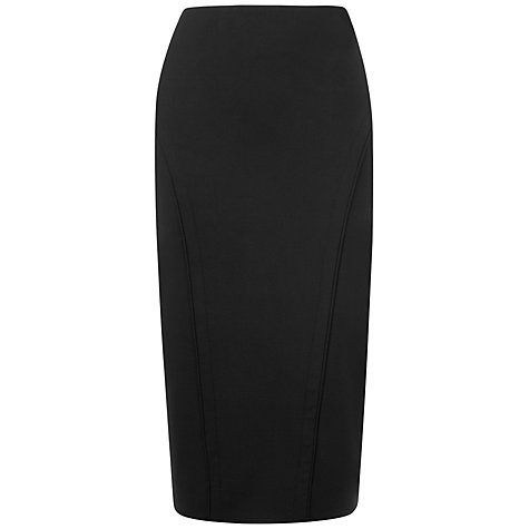 Buy Jaeger Collette Piped Pencil Skirt, Black Online at johnlewis.com
