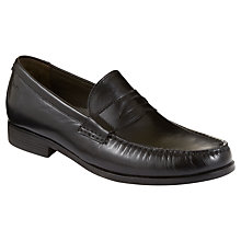 Buy Clarks Cantin Sole Leather Loafers, Black Online at johnlewis.com