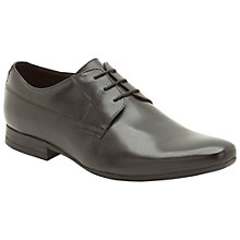 Buy Clarks Grant Walk Leather Derby Shoes, Black Online at johnlewis.com