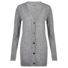Buy Jigsaw Superwool Cashmere Cardigan, Grey Online at johnlewis.com