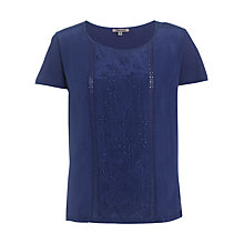 Buy Jigsaw Panel Top, Washed Indigo Online at johnlewis.com