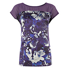 Buy Kaliko Lana Fabric Top, Purple Online at johnlewis.com
