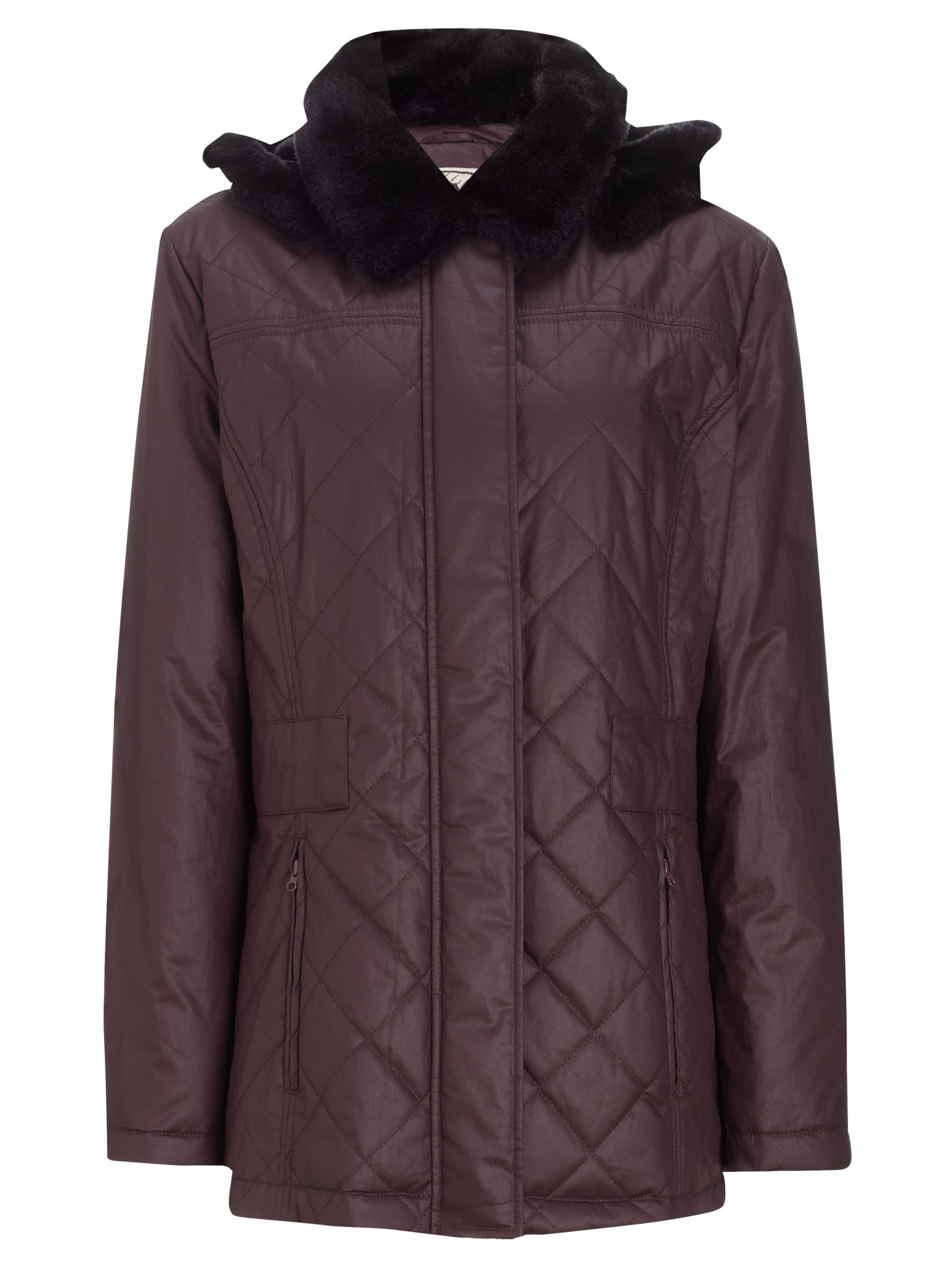 Four Seasons Faux-fur Collar Quilted Jacket