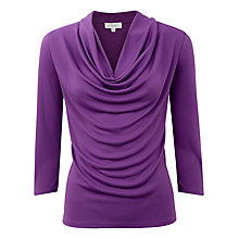 Buy Kaliko Deep Cowl Neck Top, Purple Online at johnlewis.com