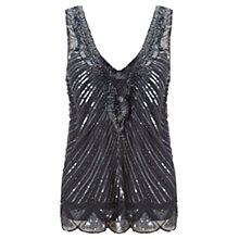 Buy Jigsaw Infinity Beaded Top, Grey Online at johnlewis.com