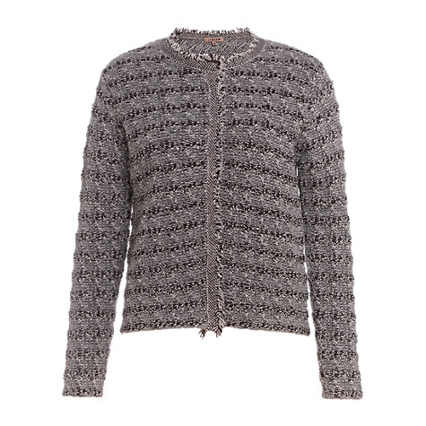 Buy Jigsaw Chunky Tweed Knit Jacket, Grey Online at johnlewis.com