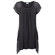 Buy Kaliko Silk Tunic Dress, Grey Online at johnlewis.com