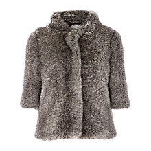 Buy Ted Baker Rida Faux Fur Jacket, Beige Online at johnlewis.com
