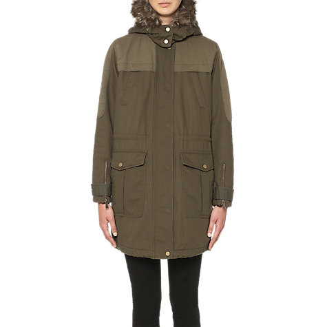Buy Whistles Bobby Casual Parka Coat, Khaki Online at johnlewis.com