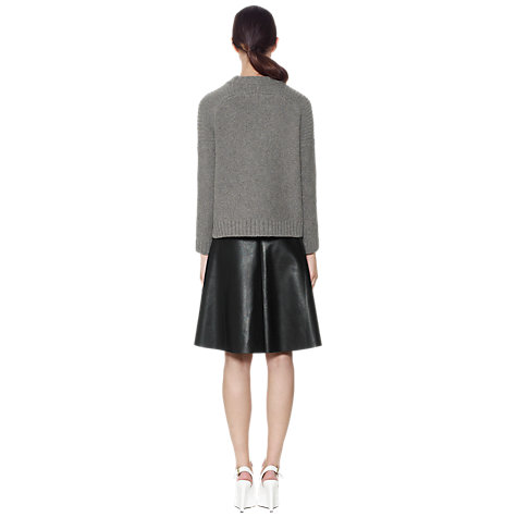 Buy Whistles Eden Textured Boxy Jumper, Grey Online at johnlewis.com
