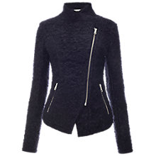 Buy Whistles Annabel Textured Jacket, Navy Online at johnlewis.com