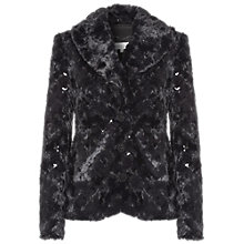 Buy Damsel in a dress Mistletoe Fur Coat, Black Online at johnlewis.com