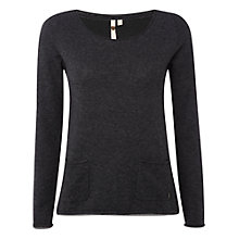 Buy White Stuff Plain Talkin' Top, Charcoal Online at johnlewis.com