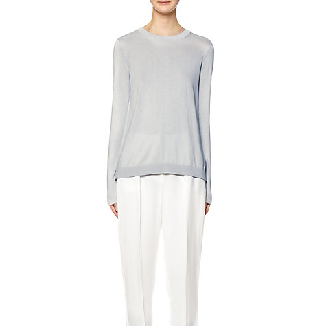 Buy Whistles Amelia Silk Mix Sweater, Silver Online at johnlewis.com