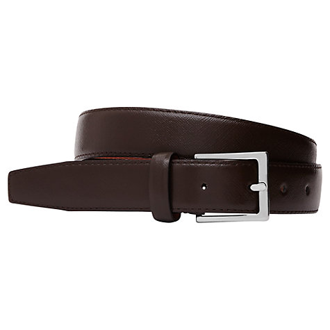 Buy Reiss Danton Formal Leather Belt, Mid Brown Online at johnlewis.com