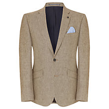 Buy John Lewis Sharkskin Weave Linen Jacket, Sand Online at johnlewis.com