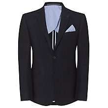 Buy John Lewis Herringbone Linen Cotton Blazer, Navy Online at johnlewis.com