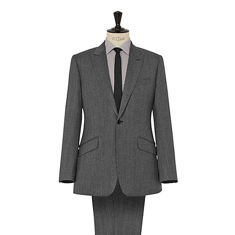 Buy Reiss Harper Peak Lapel Herringbone Suit, Charcoal Online at johnlewis.com