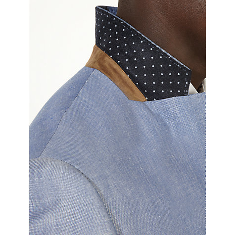 Buy John Lewis Oxford Wool Linen Blend Blazer, Blue Online at johnlewis.com