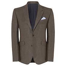 Buy John Lewis Herringbone Linen Blazer, Brown Online at johnlewis.com