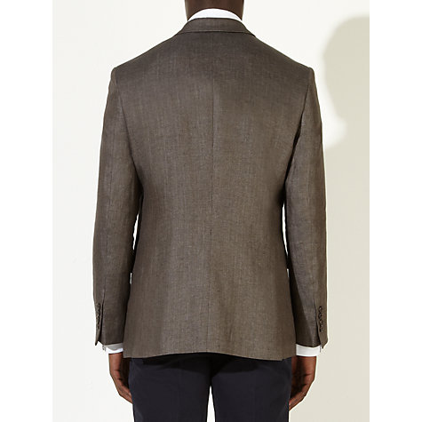 Buy John Lewis Italian Herringbone Linen Blazer, Brown Online at johnlewis.com