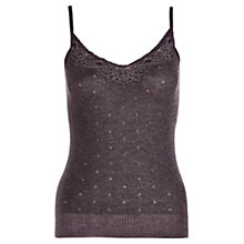 Buy Jigsaw Lace Trim Vest, Charcoal Online at johnlewis.com