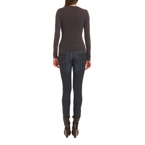 Buy Jigsaw Metallic Cardigan, Charcoal Online at johnlewis.com