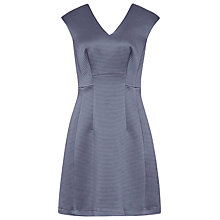Buy Reiss Anouk Textures Fit And Flare Dress, Blue Lavender Online at johnlewis.com