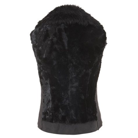 Buy Mint Velvet Faux Fur Gilet , Black Online at johnlewis.com