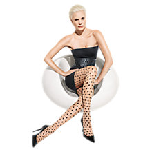 Buy Wolford Delia Tights, Sahara/Black Online at johnlewis.com