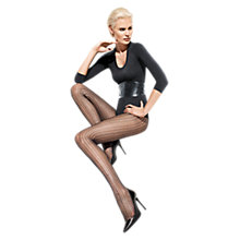 Buy Wolford Suada Patterned Tights, Black Online at johnlewis.com