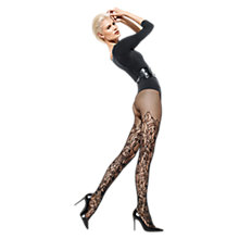 Buy Wolford Nahla Patterned Tights, Black Online at johnlewis.com