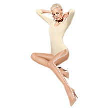 Buy Wolford Mimi Tights, Sahara/White Online at johnlewis.com