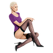 Buy Wolford Delia Stay-Ups, Black/Purple Online at johnlewis.com