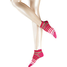 Buy Falke Striped Trainer Socks, Pink Online at johnlewis.com