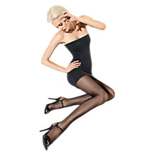 Buy Wolford Shamila Patterned Tights, Black Online at johnlewis.com