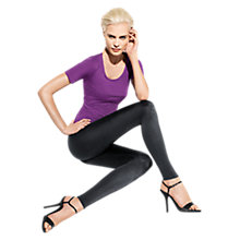 Buy Wolford Satin De Luxe Leggings, Black Online at johnlewis.com