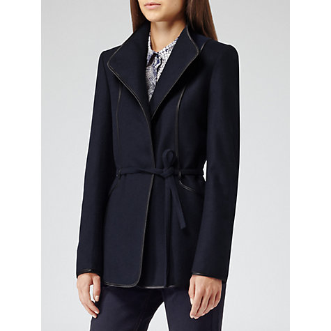 Buy Reiss Warwick Coat, Navy Online at johnlewis.com
