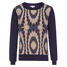 Buy Reiss Print Front Jumper, Blue Online at johnlewis.com