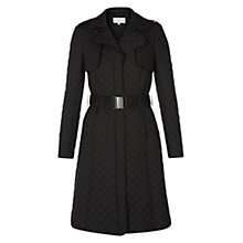Buy Hobbs Worcester Coat, Black Online at johnlewis.com