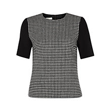 Buy Hobbs Letty Top, Black Ivory Online at johnlewis.com