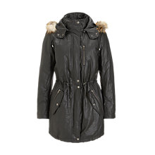 Buy Jigsaw Waxed Parka, Khaki Online at johnlewis.com