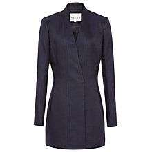 Buy Reiss Delaney Textured Fitted Coat, Navy/Black Online at johnlewis.com