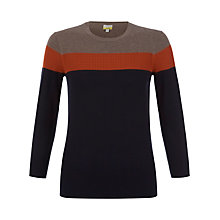 Buy NW3 by Hobbs Beaton Striped Jumper, Dawn Orange Multi Online at johnlewis.com