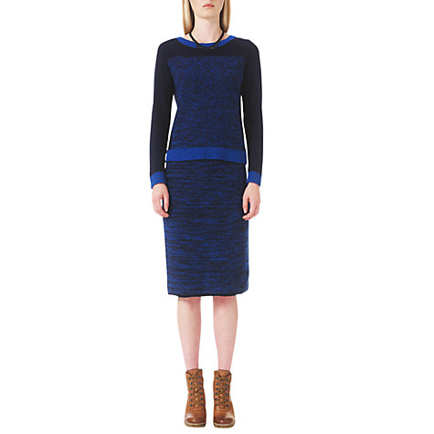 Buy Jigsaw Colour Block Skirt, Blue Online at johnlewis.com